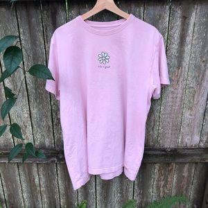 Life Is Good Pink Daisy Sunflower Womens 2XL Shirt